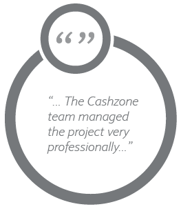 The Cashzone team managed the project very professionally